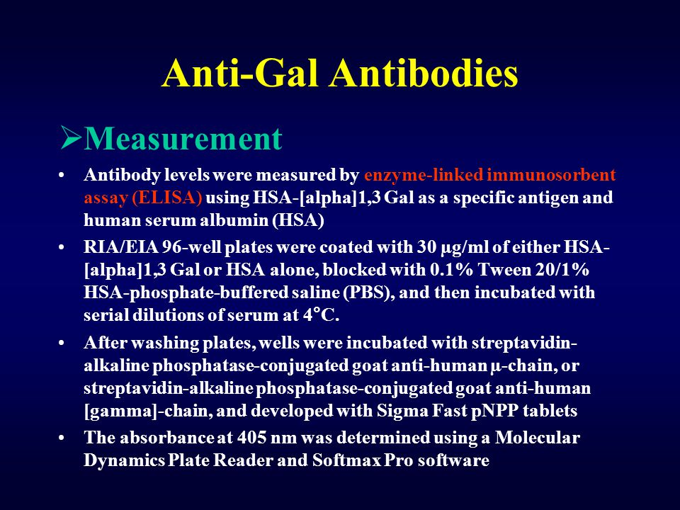Anti-Gal Antibodies Measurement