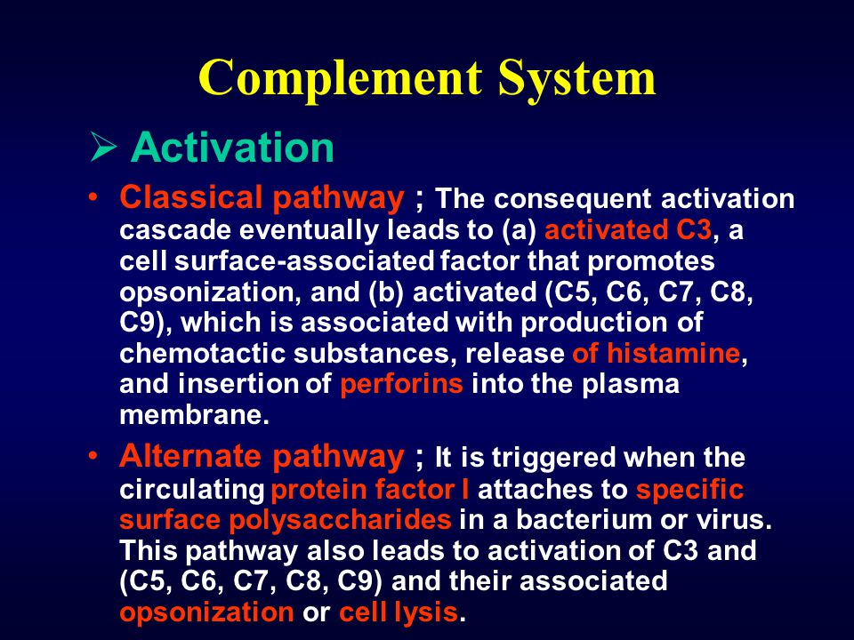 Complement System Activation
