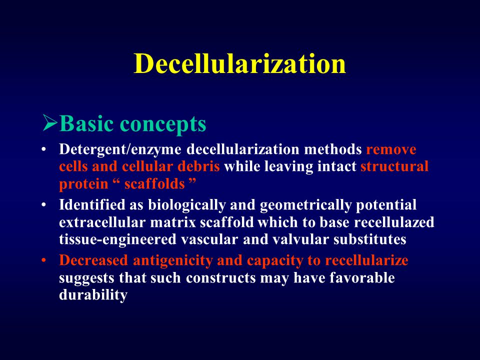 Decellularization Basic concepts