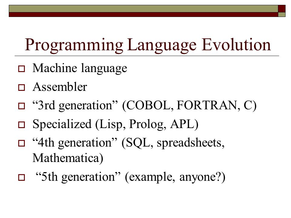 Programming Language Evolution