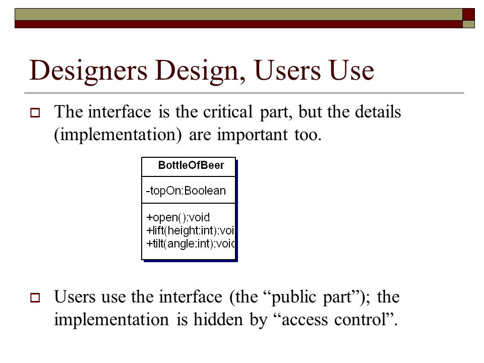 Designers Design, Users Use