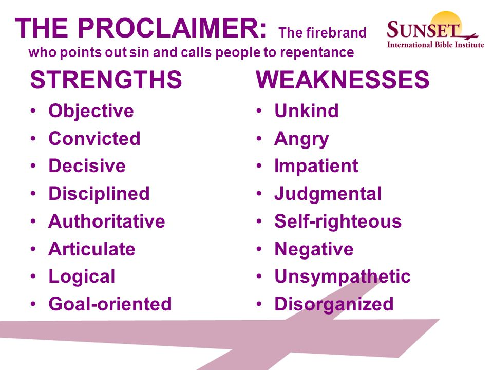 THE PROCLAIMER: The firebrand who points out sin and calls people to repentance
