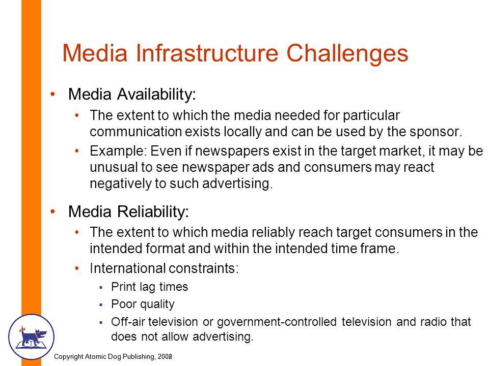 Media Infrastructure Challenges