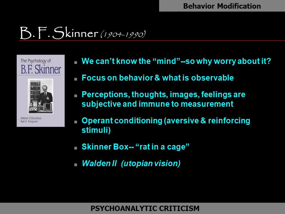 Behavior Modification PSYCHOANALYTIC CRITICISM