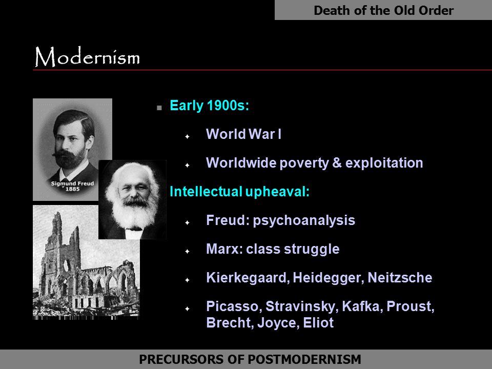 PRECURSORS OF POSTMODERNISM TRADITIONAL WESTERN MODERN THINKING