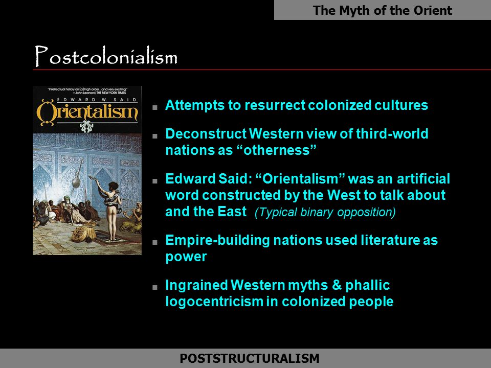 Postcolonialism as Attempts to resurrect colonized cultures