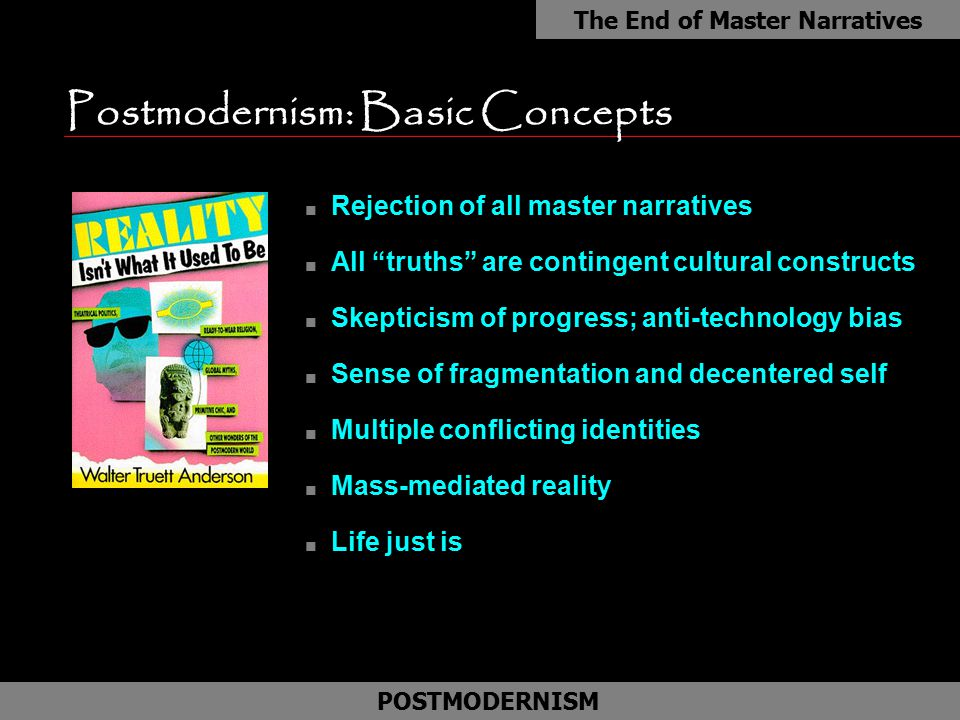 Postmodernism: Basic Concepts