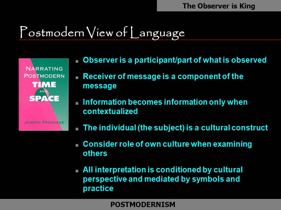 Postmodern View of Language