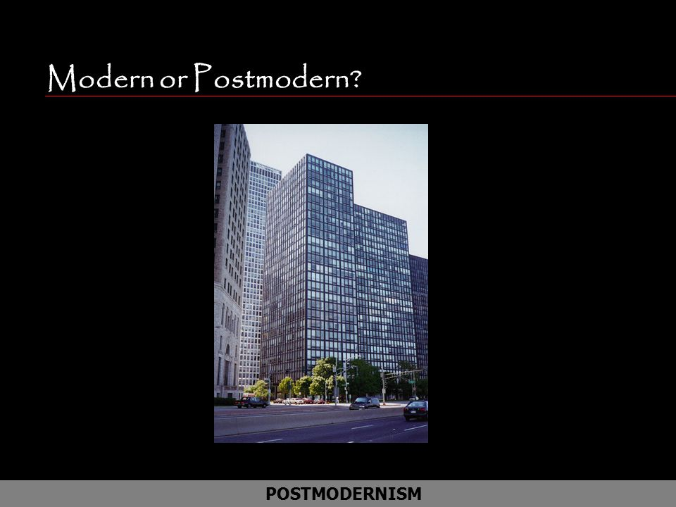 Modern or Postmodern POSTMODERNISM Lake Shore apartments in Chicago
