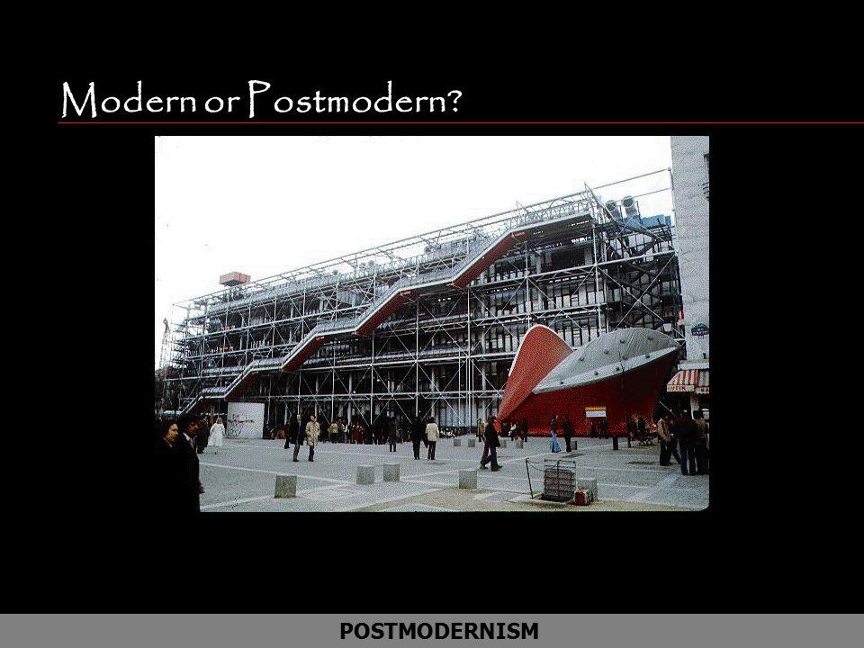 Modern or Postmodern Art Museum in Paris Le Boo Boo POSTMODERNISM