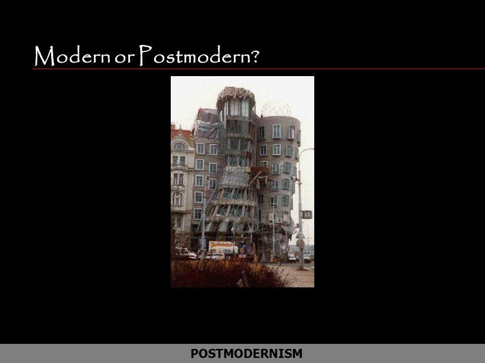 Modern or Postmodern Frank Gehring /Prague POSTMODERNISM