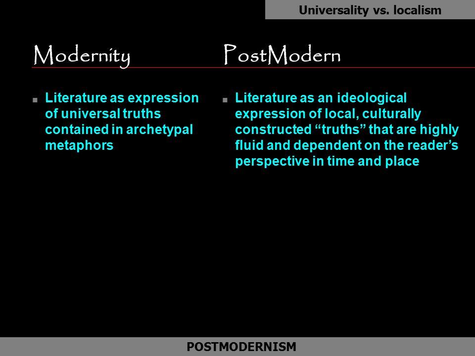 Universality vs. localism