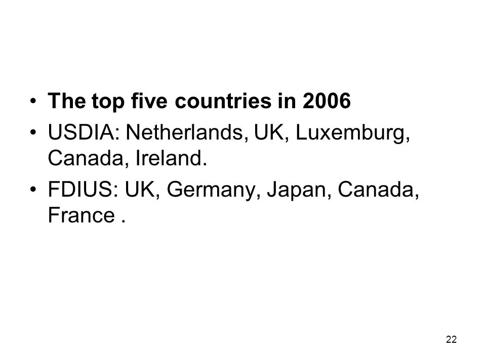 The top five countries in 2006