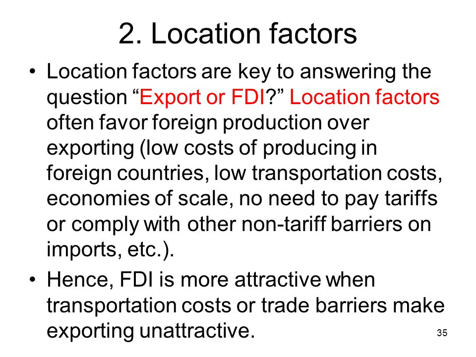 2. Location factors
