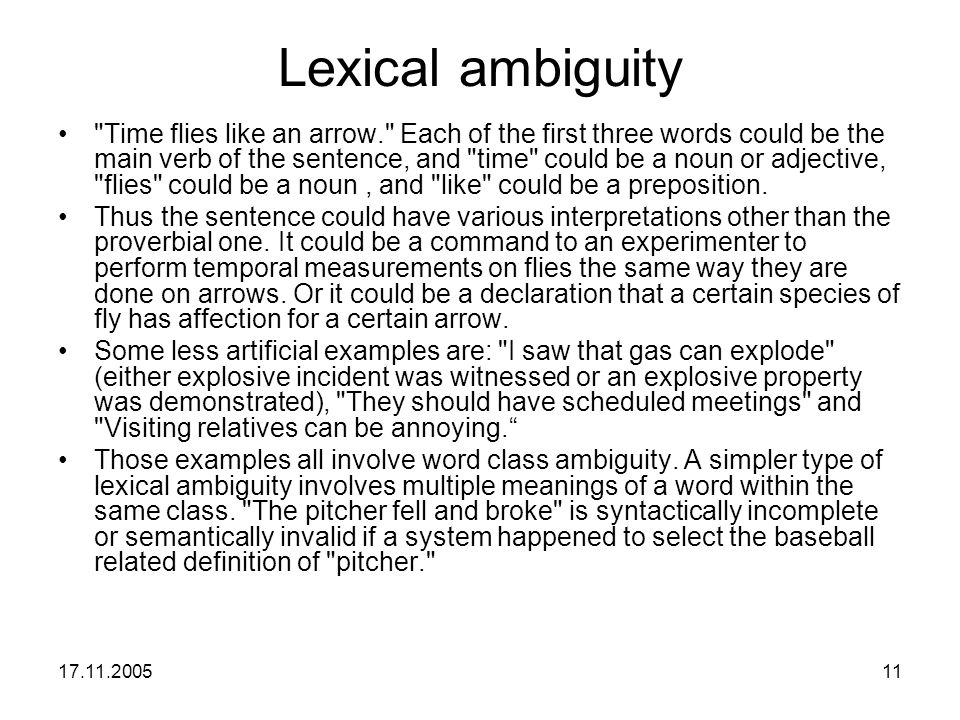 Lexical ambiguity