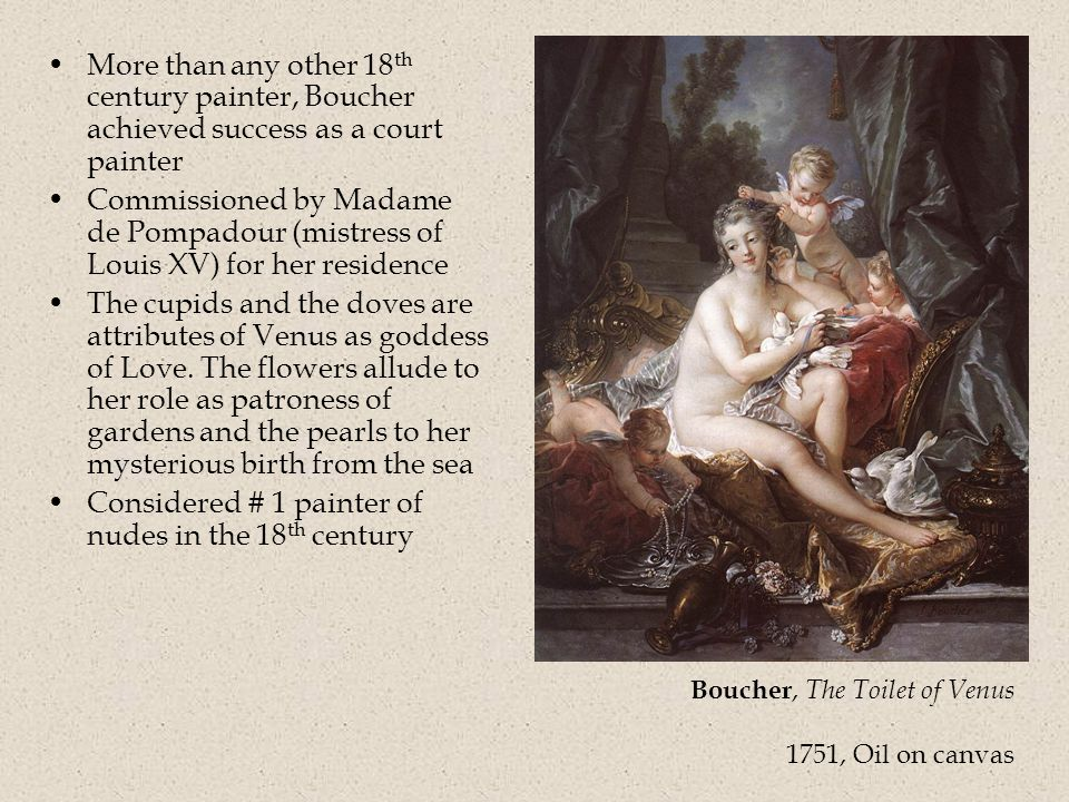 Considered # 1 painter of nudes in the 18th century