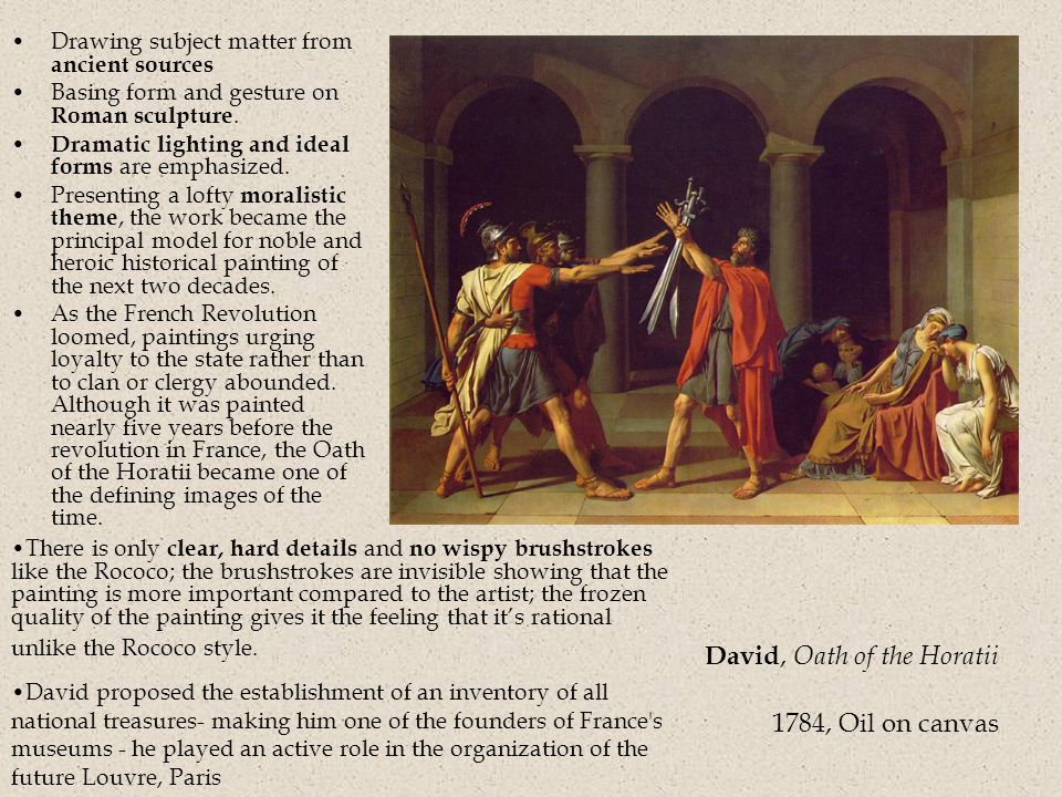 David, Oath of the Horatii 1784, Oil on canvas
