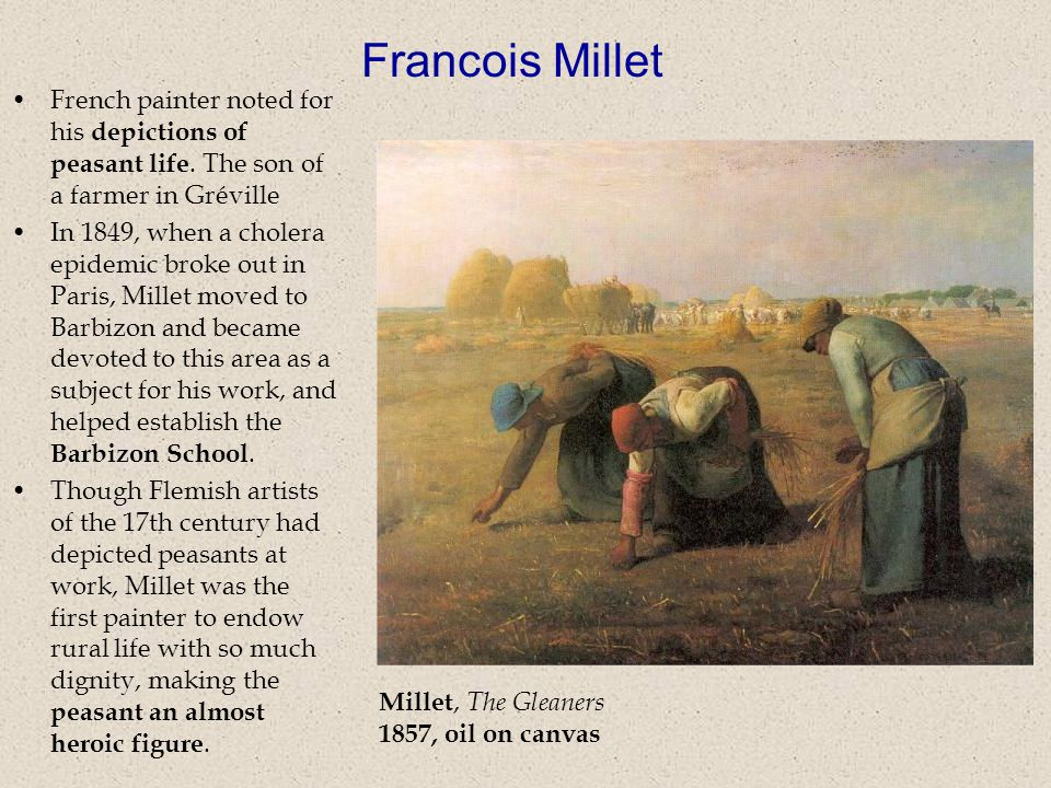 Millet, The Gleaners 1857, oil on canvas