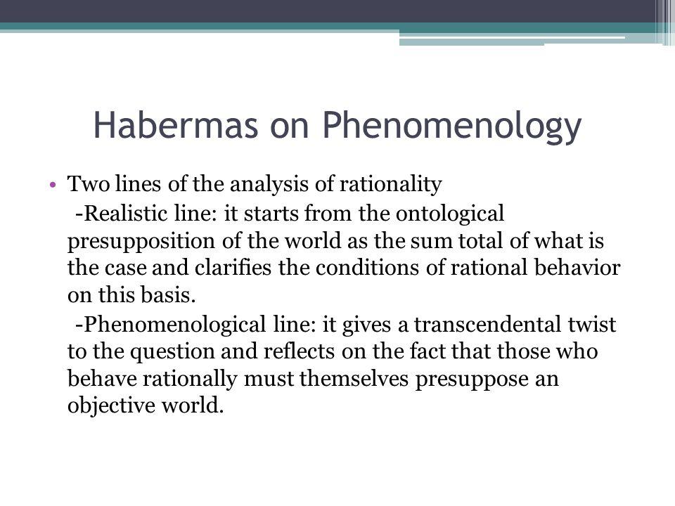 Habermas on Phenomenology