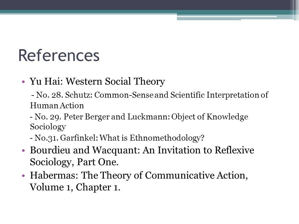 References Yu Hai: Western Social Theory