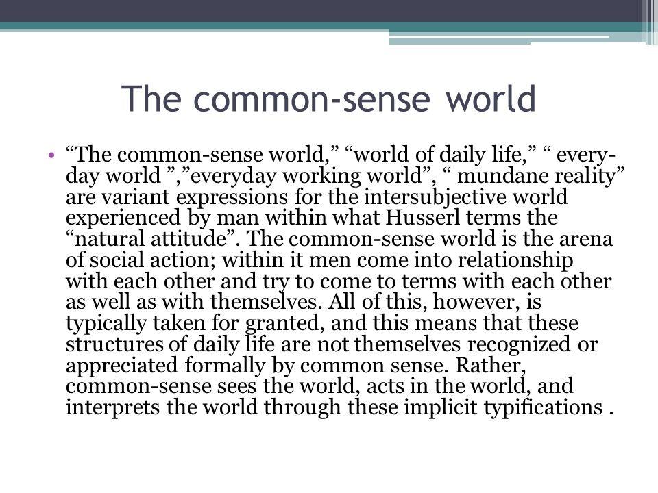 The common-sense world