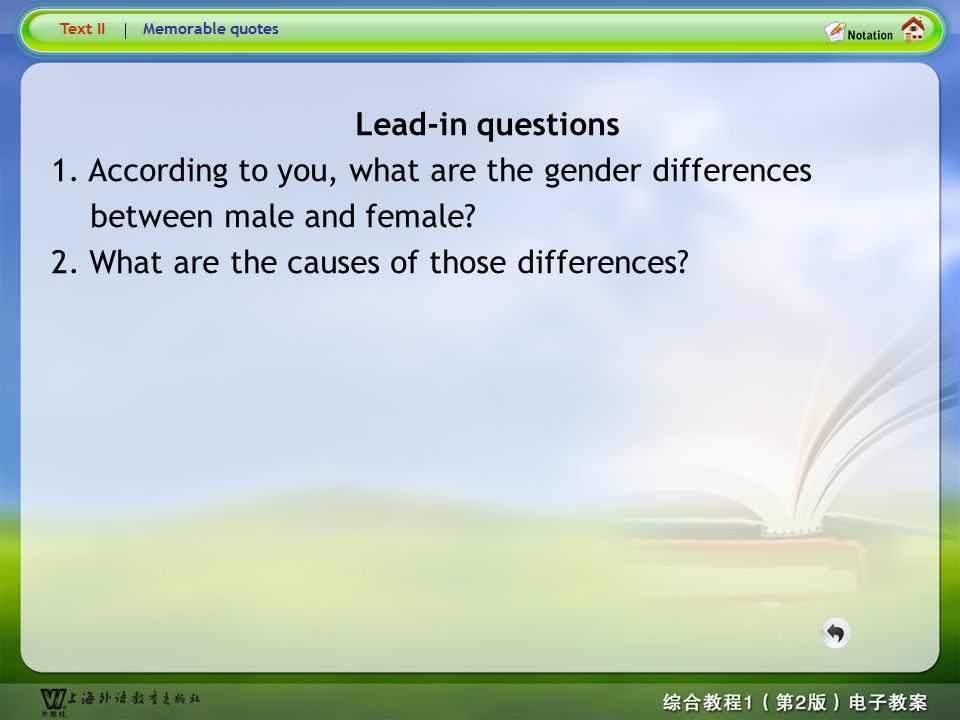 Lead-in questions Lead-in questions