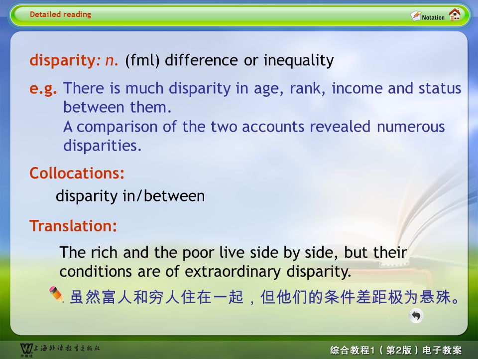 Detailed reading3-- disparity
