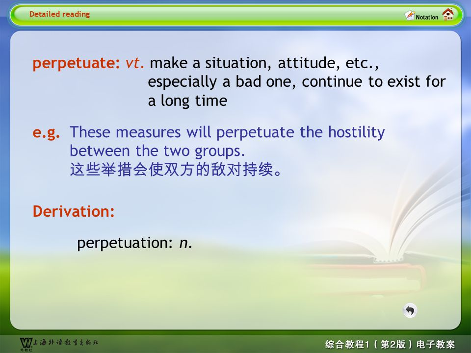 Detailed reading5-- perpetuate