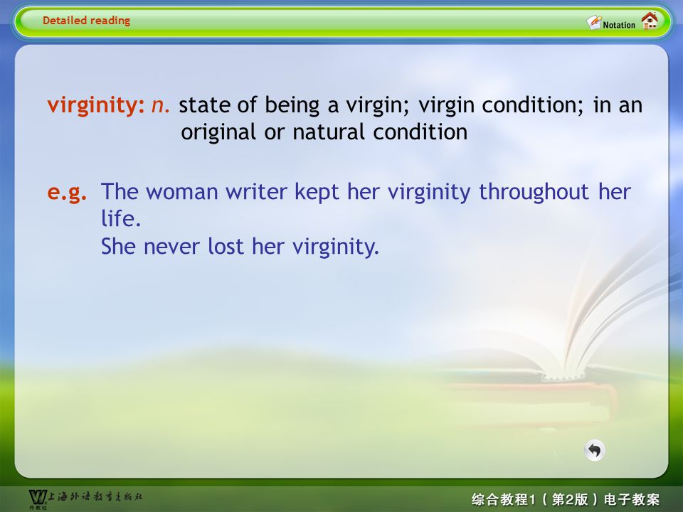 Detailed reading5-- virginity