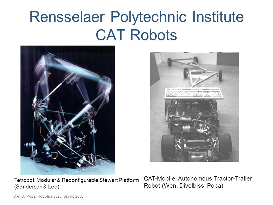 Rensselaer Polytechnic Institute CAT Robots