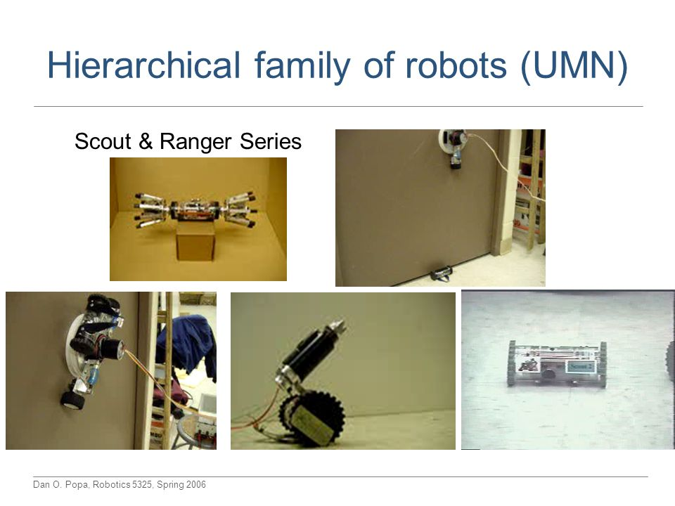 Hierarchical family of robots (UMN)