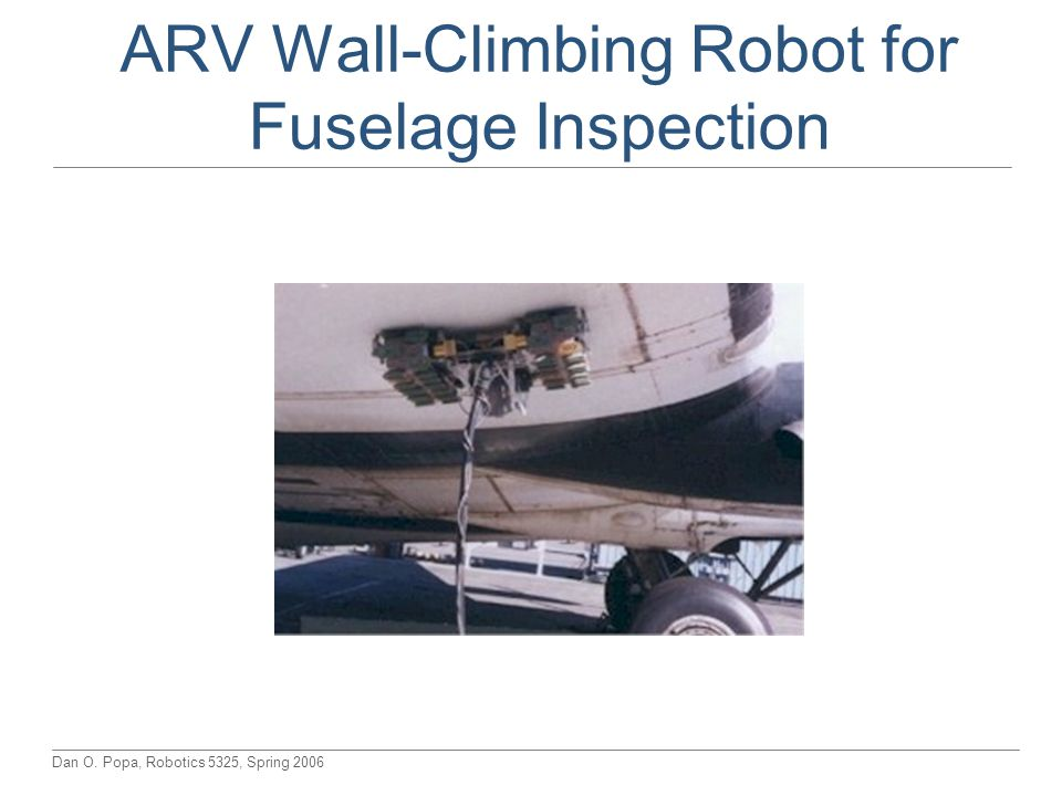 ARV Wall-Climbing Robot for Fuselage Inspection