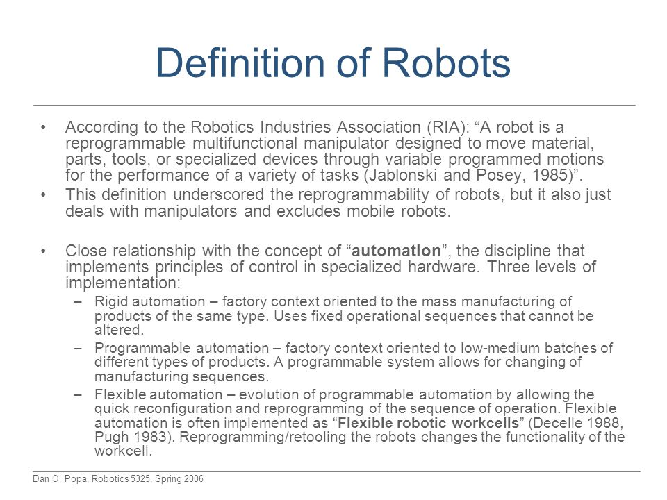 Definition of Robots