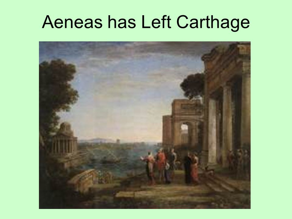 Aeneas has Left Carthage
