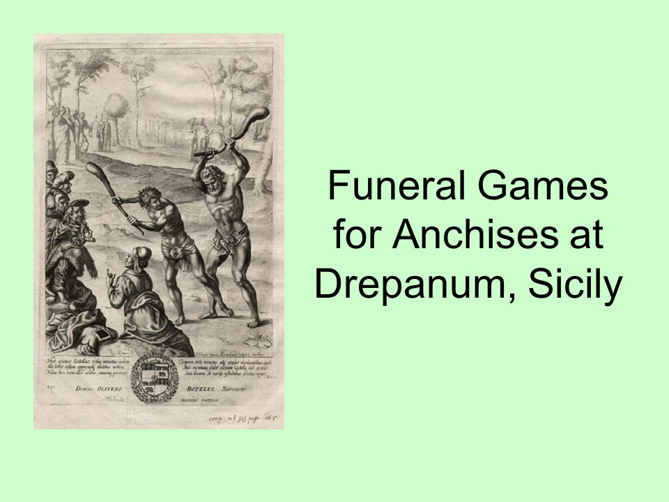 Funeral Games for Anchises at Drepanum, Sicily