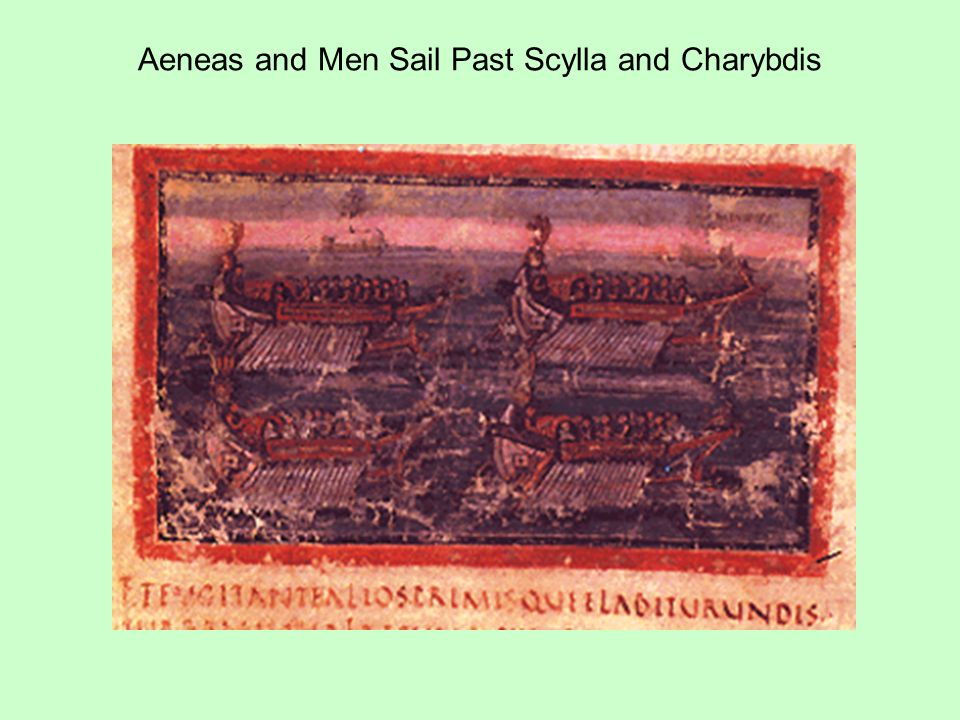 Aeneas and Men Sail Past Scylla and Charybdis