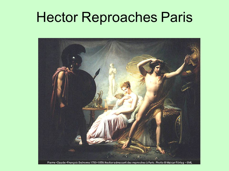 Hector Reproaches Paris