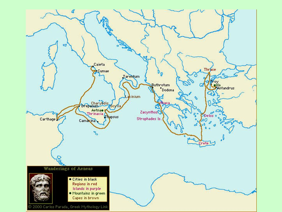 The Wanderings of Aeneas