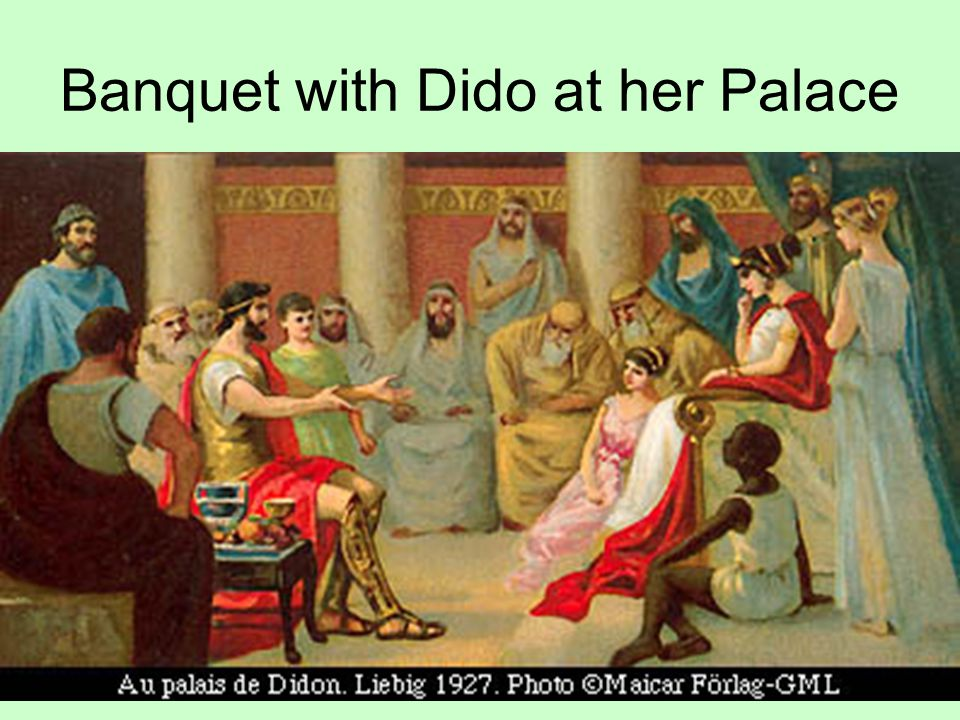 Banquet with Dido at her Palace