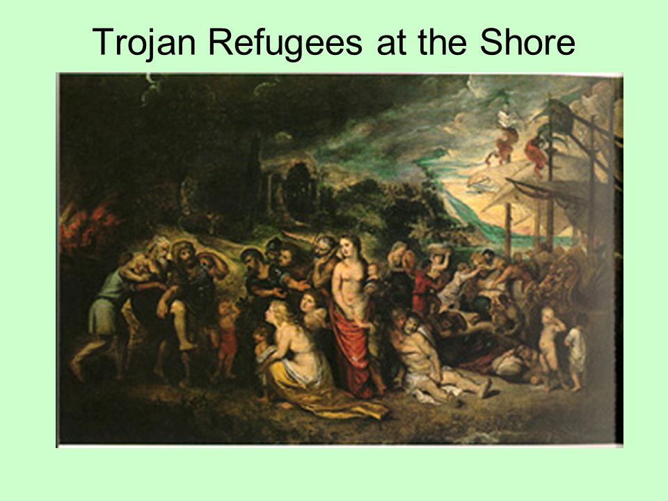 Trojan Refugees at the Shore