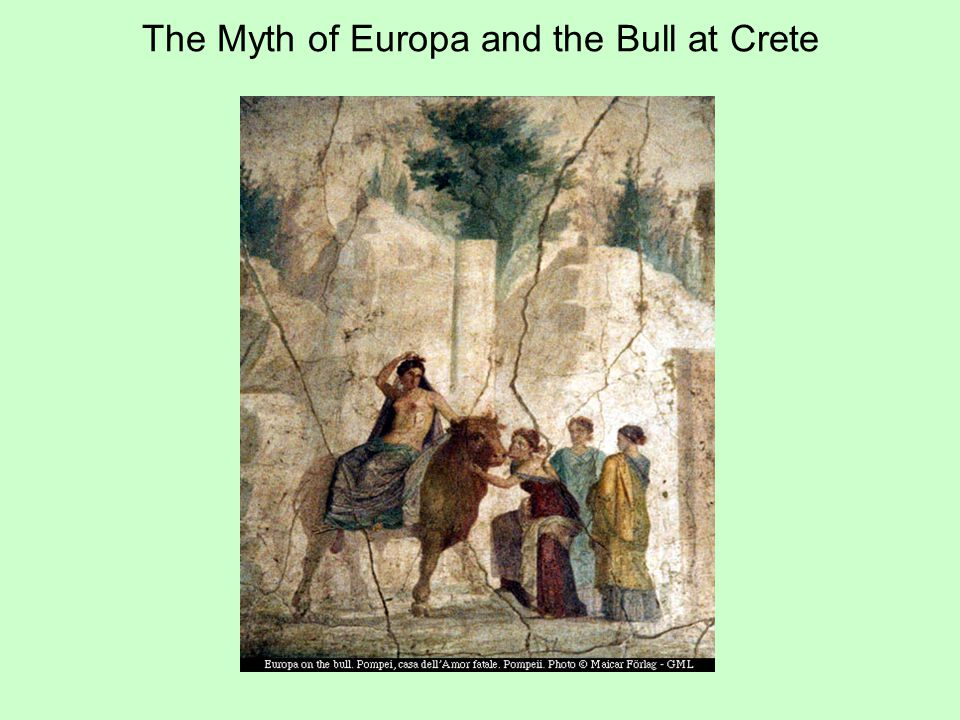 The Myth of Europa and the Bull at Crete