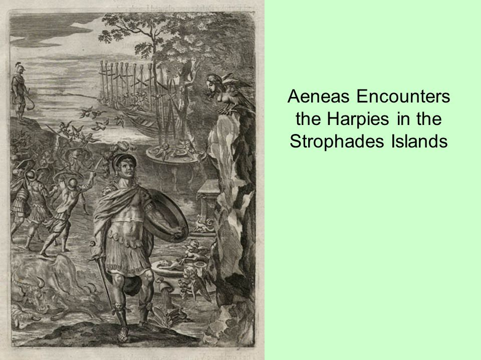 Aeneas Encounters the Harpies in the Strophades Islands