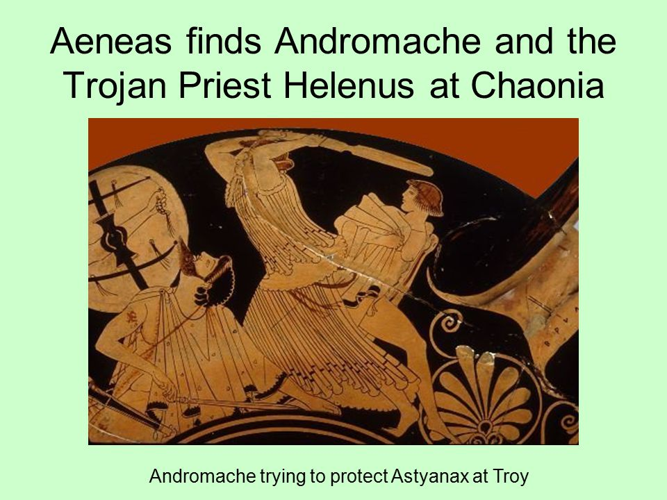 Aeneas finds Andromache and the Trojan Priest Helenus at Chaonia
