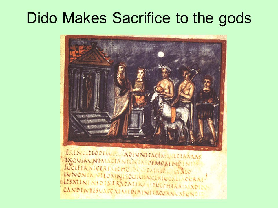 Dido Makes Sacrifice to the gods