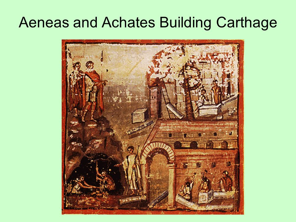 Aeneas and Achates Building Carthage