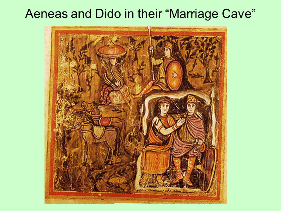 Aeneas and Dido in their Marriage Cave