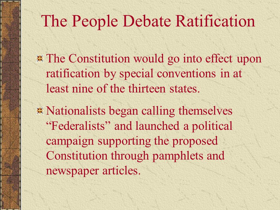 Ratifying The Constitution Essay  Ratifying The Constitution Essay Bevor Sie Fortfahren
