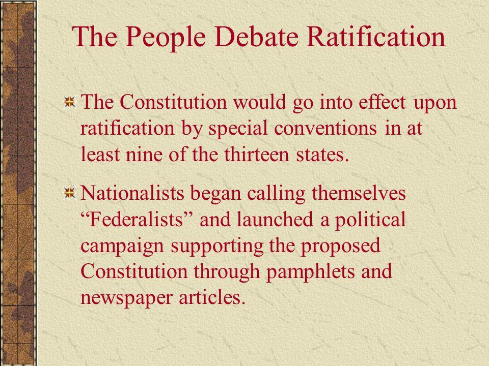 The People Debate Ratification