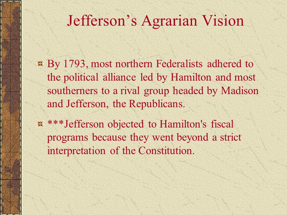 Jefferson's Agrarian Vision