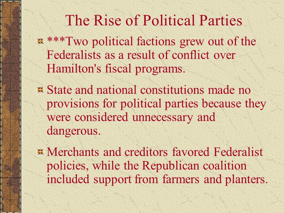 The Rise of Political Parties